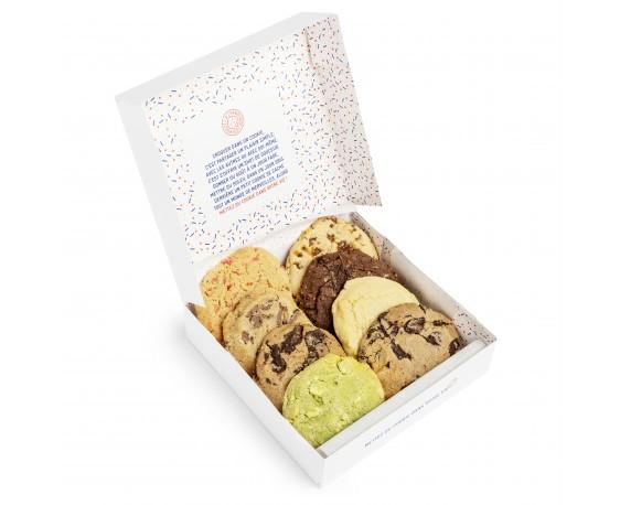 Boite de 8 cookies parfums divers